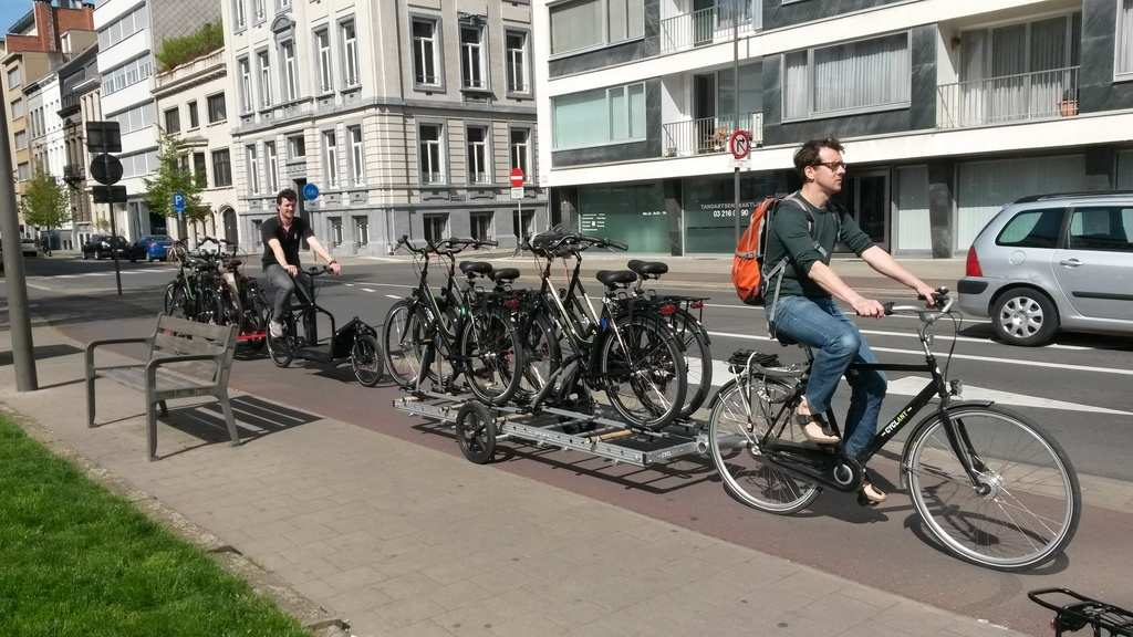 Transporting Tour Bikes by Bike
