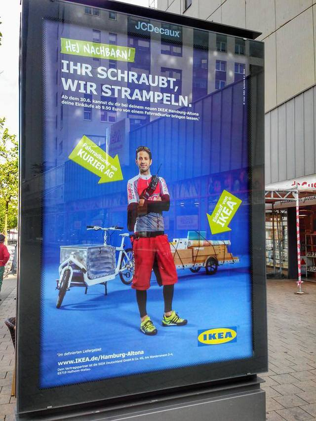 IKEA Store in Hamburg, Germany Makes Deliveries by Bike