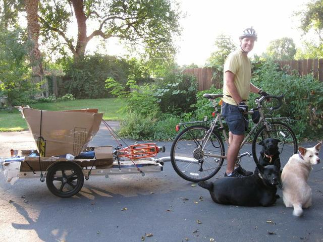 64A bike trailer carrying a bike and some other stuff (photo courtesy David Morse)