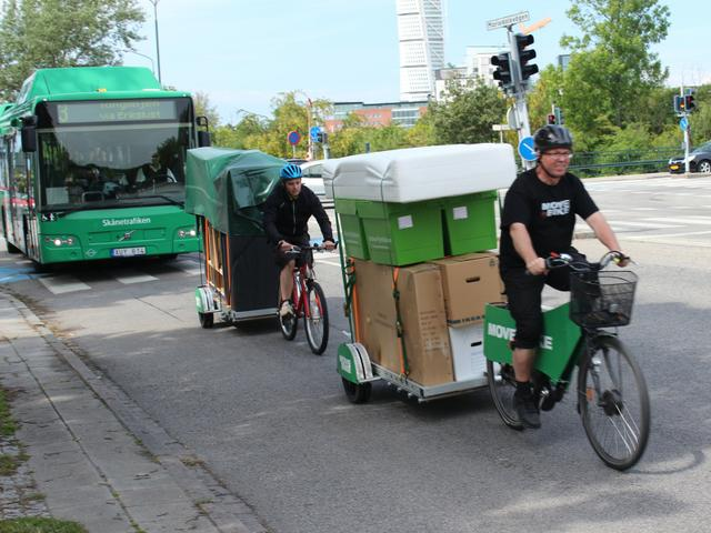 Bikes At Work Move by Bike hauling a load on