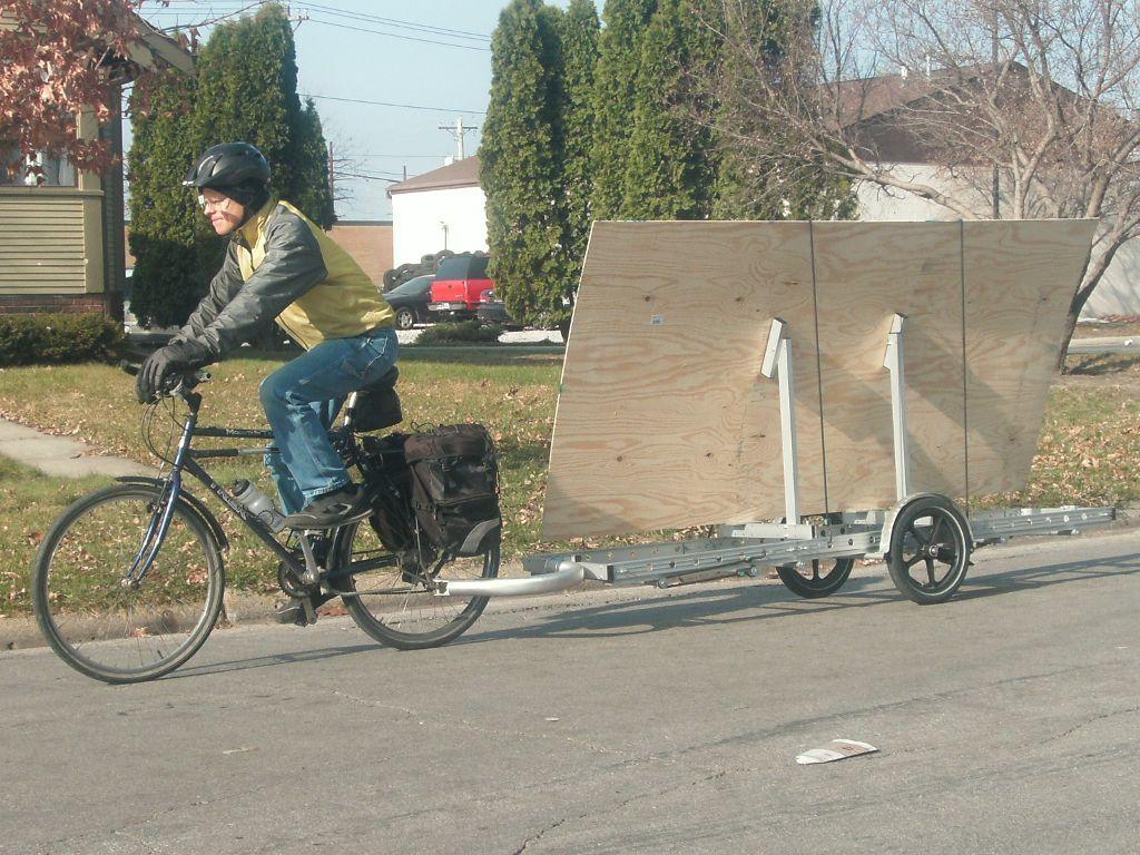 Plywood Rack Bikes At Work