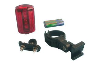 5 LED flashing taillight with batteries and mounting hardware