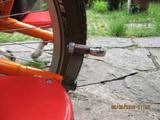Yuba Mundo bike trailer hitch mounted on bike